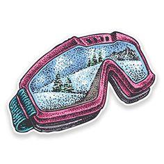 2 x 10 cm Masque de ski/snowboard Sticker en vinyle pour ordinateur portable voiture voyage neige # 9316 – 10cm Wide x 7cm High: Votre…