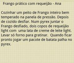 Frango gratinado Ana