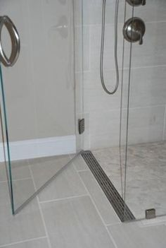 long rectangle door drain.  could help contain water