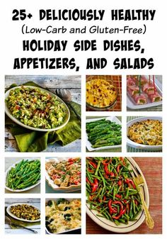 25+ Deliciously Healthy #LowCarb and #GlutenFree Holiday Side Dishes, Appetizers, and Salads