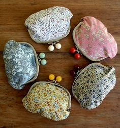 DIY Coin purses with some little goodie inside for bridesmaids? Click on the pic to link to the original post ;)