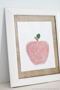 Baker's Twine Apple Art @ Domestically Speaking