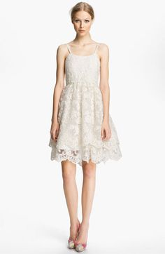 Alice + Olivia Lace Tank Dress available at #Nordstrom