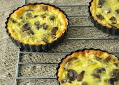 Peas and Crayons: Super Simple Mushroom-Swiss Quiche...Oh So Good with the Portobello variety