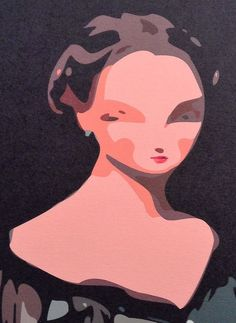 """POP GIRL """"1/1"""" Signed Limited Edition Giclee Pigment Ink Print Greek 2013 #PopArt"""