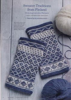 Vörå-Inspired Arm Warmers Kit Discover historical knitting like never before with PieceWork's Annual Historical Knitting Issue! Carol Huebscher Rhoades designed her arm warmers project based on swea Fair Isle Knitting Patterns, Knitting Stitches, Free Knitting, Loom Knitting, Knitting Machine, Vintage Knitting, Stocking Pattern, Mittens Pattern, Fingerless Gloves Knitted