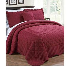 120 X 120 Burgundy Red Oversized Bedspread King Floor Set Extra Long Quilt Bedding Drops Over Edge Bed Hangs Side Frame Wide Large French Country
