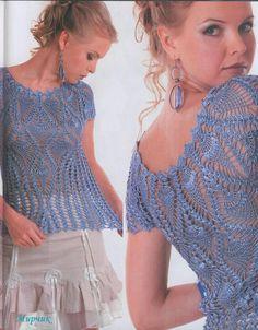 Handmade crochet summer women crochet blouse