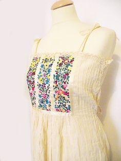 Embroidery Dress-wore these in the 70s, still love to wear tops w/embroidery on them!