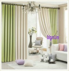 Summer Style Linen Curtains For Living Room Blackout Curtain White Red Beige Blue Grey Green Solid Drapes Patchwork Window trim -- Want additional info? Click on the image. #HomeDecor