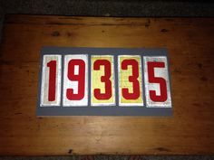 huge discount 5affb 70c66 Zip code sign... Vintage plastic marquee letters. Pick your numbers and  colors. Available on Facebook page  www.facebook.com Jentlymadeimperfectsigns.