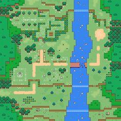 2d Rpg, Pixel Art Background, Cool Pixel Art, Video Game Sprites, Pixel Art Games, Fantasy Map, Game Concept Art, Dungeons And Dragons, Game Design