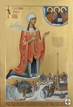St Nina of Georgia - Equal of the Apostles Religious Icons, Religious Art, Faith Of Our Fathers, Russian Icons, Byzantine Icons, Bible Activities, Orthodox Christianity, Saint George, Orthodox Icons