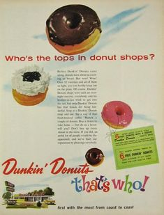 1964 Vintage Dunkin' Donuts Ad