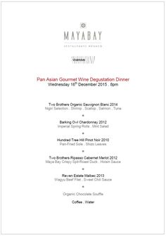 New World Gourmet Wine Dinner Menu . Golf Country Club Cannes ...