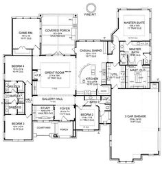 Floor Plan image of Brazos Ranch House Plans, Best House Plans, Fiberglass Entry Doors, European House Plans, House Information, Mediterranean Home Decor, Ranch Style, Plan Design, Custom Homes