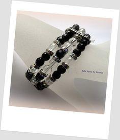 Armband+Black+and+White+von+Edle+Steine+auf+DaWanda.com