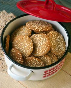 Greek Recipes, Tahini, Pretzel Bites, Junk Food, Doughnut, Bread, Cookies, My Favorite Things, Desserts