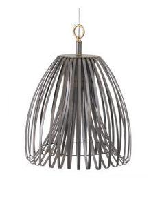 Strip Metal chandelier - Small - Grey