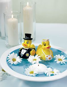 Rubber Duck Bride and Groom from Wedding Star.... they would be cute for a carnival game!