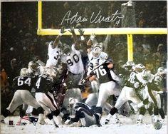 1da09e84f Adam Vinatieri Signed PATRIOTS Snow Bowl Kick 16x20 Sleeved Glossy Photo  COA Patriots Sign