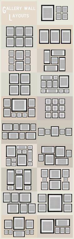 Ideas Galería Muro Disposición | These Diagrams Are Everything You Need To Decorate Your Home