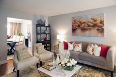 Andrea & Santino's LIVING ROOM REVEAL   Buying & Selling