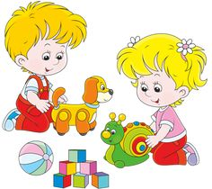 Illustration of Little girl and boy playing with their toys vector art, clipart and stock vectors. Free Vector Images, Vector Free, Boys Playing, Banner Printing, Clipart, Little Girls, Cards, Easter Banner, Flashcard