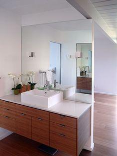 mid century bath remodel