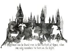 """Harry Potter Painting - Print from Original Watercolor Painting, """"Expecto…"""