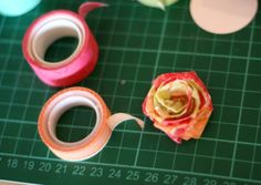 washi tape flowers! i'm always looking for fun ways to use my tape.