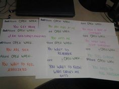 Open When letters that I made for our 5 year anniversary :)