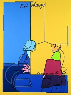View Mies Van der Rohe à Chicago By Valerio Adami; Access more artwork lots and estimated & realized auction prices on MutualArt. Spirited Art, Illustration Art, Illustrations, Contemporary Artists, Outline, Pop Art, Literature, Chicago, Van