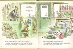 """""""Paddington's Garden"""" by Michael Bond & Fred Banbery, 1973 (https://www.etsy.com/listing/151551567/vintage-paddington-picture-book?ref=related-4)"""
