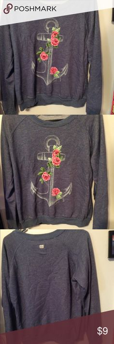 Floral anchor sweatshirt! Floral anchor sweatshirt! Super cute and comfy. Only worn a couple of times. Perfect for any casual occasion! Billabong Tops Sweatshirts & Hoodies