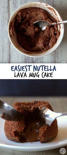 Easiest Nutella Lava Mug Cake
