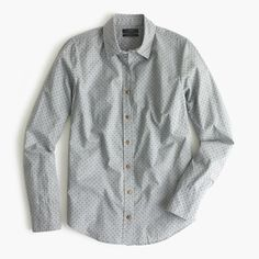 Perfect shirt in heather flannel dot : casual shirts   J.Crew