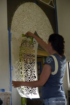 Moroccan: Peacock Pavilions My dear friend Melanie Royals is in Marrakech for her annual decorative painting retreat at Peacock Pavilions with a group of very talented painters. This time, weve collaborated on something very special. Morrocan Decor, Moroccan Bedroom, Moroccan Interiors, Moroccan Lanterns, Handmade Home Decor, Diy Home Decor, Room Decor, Moroccan Design, Moroccan Style