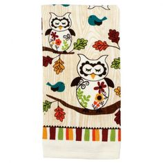 Sleepy Owl Kitchen Towel oh I need this in my kitchen :O