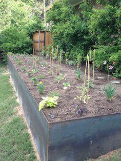 The Urban Dirt Farmer: Steel Vegetable Garden/Retaining Wall
