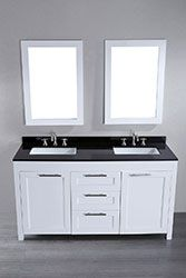 60'' Bosconi SB-267 Contemporary Double Vanity (White) #HomeRemodel #BathroomRemodel #BlondyBathHome #BathroomVanity