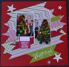 Awesome deals on the Clearance Rack, Christmas Scrapbook page, 12 x 12, Scrapbooking, Expressions Thinlits, Stampin' Up!, Christies Creative Corner