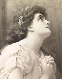 """Faith"" ~ Frederic Leighton"