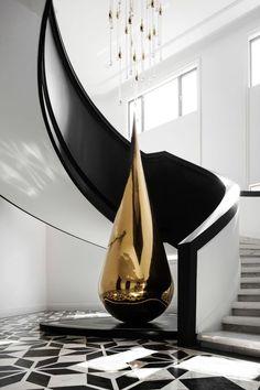 Lobby Interior, Apartment Interior, Modern Staircase, Staircase Design, Villa Design, House Design, Neoclassical Interior, Scale Design, Curtain Designs