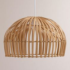 Need to Spruce Up Your Space for Fall? Check out our Natural Bamboo Hanging Pendant Lamp from Cost Plus World Market's Desert Caravan Collection. >> #WorldMarket Home Decor Ideas, Fall, #SpruceUpYourSpace