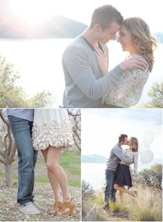 or keep it simple with a favorite location of yours  by White Linen Photography | Style Me Pretty