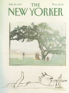 André François : Cover art for The New Yorker 2997 - 26 July 1982