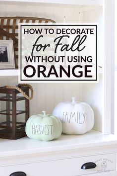 Here's how to incorporate new pieces and mix decorating styles in your home with things you already own!. I also show you how to decorate for fall without using any orange. Diy Antique Books, Orange Show, Ikea Bookcase, Happy Pumpkin, Wood Tray, Acacia Wood, Autumn Inspiration, Porch Decorating, Built Ins