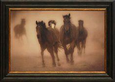 Sepia Horses 8 Framed Photographic Print