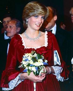 """04 March 1982: Mother to be Princess Diana attends a performance of """"Night of Knights"""" at the Barbican Centre for Arts, in aid of The Prince's Trust."""